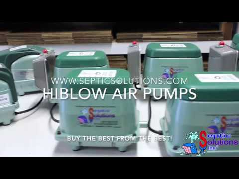 Hiblow HP-150 Linear Septic Air Pump with Attached Alarm Video
