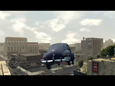 L.A. Noire Ramping Cars Off A Cliff.