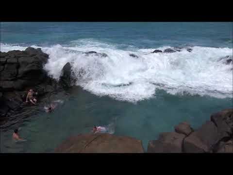 Rogue Waves At Queen s Bath Hawaii