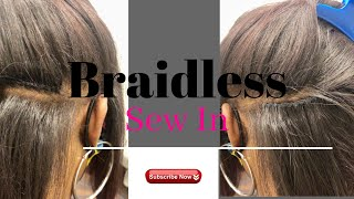 Braidless Sew In! No Micro Links! No Rubber bands! Sneak Peek!😉 THIS IS NOT A TUTORIAL VIDEO!