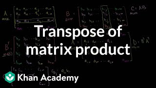 Linear Algebra: Transpose of a Matrix Product
