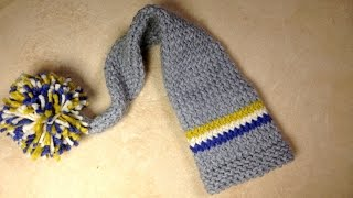 How to Loom Knit a Baby Long Tail Hat (DIY Tutorial)