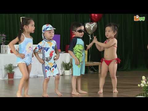 Bế giảng trường mầm non Thăng Long - Lớp Micky 3 - Trình diễn bộ sưu tập áo tắm 2019