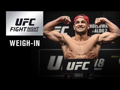 Revoir la pesée de l'UFC on FOX 30