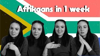 SPEAKING AFRIKAANS AFTER JUST 1 WEEK - LANGUAGE CHALLENGE