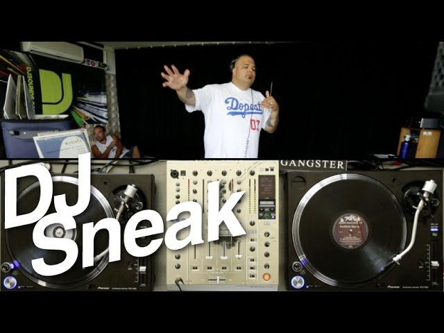 DJ Sneak live 90s mix on vinyl - DJsounds Show 2014