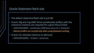 How does the JDBC Statement Fetch Size work