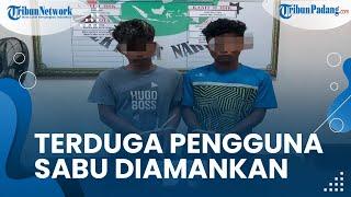 Terduga Pelaku Penyalahgunaan Narkoba Diamankan ke kantor Satresnarkoba Polres Agam dan Diperiksa