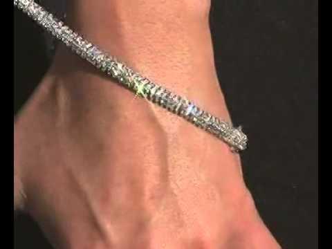 Diamant Armband mit 6.00 Karat Diamanten aus 585er Weißgold