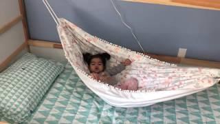 ccde5f698 DIY Hamaca para cama Montessori / Hammock for house bed