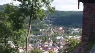 preview picture of video 'Unterwegs im Nordschwarzwald2014: Bad Liebenzell'
