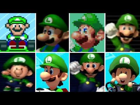 Evolution of Luigi Characters in Mario Kart Games (1992-2017)