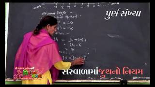 std 7 sem 1 math chapter 2 purnak sankhya theory - hmong video