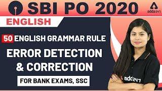50 English Grammar Rules   English Lesson for SBI PO 2020