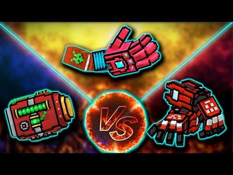 Hyper Mega Cannon [VS] Fireball Gauntlet [VS] Gauntlet pf power - Pixel Gun 3D
