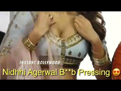 Nidhhi Agerwal Adjusting Her B**bs
