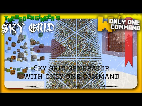 MINECRAFT SKY GRID GENERATOR WITH ONLY ONE COMMAND BLOCK