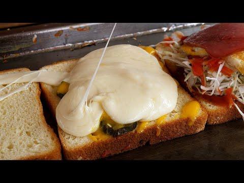mozzarella cheese toast – korean street food