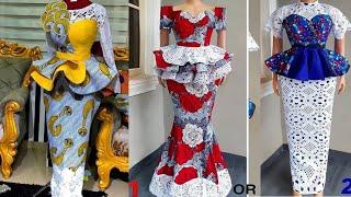 Elegant And Stunning Ankara Skirt And Blouse, 2020 Top Trending Ankara Styles