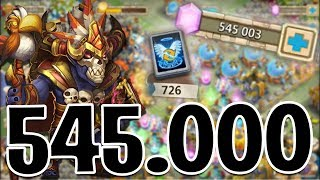 ROLLING 545000 GEMS FOR WALLAWALLA!!! CASTLE CLASH