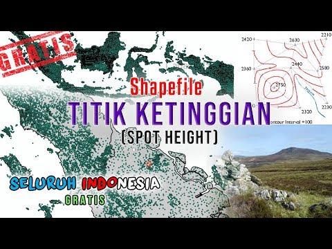 Shapefile Titik Ketinggian atau Spot Height Seluruh Indonesia