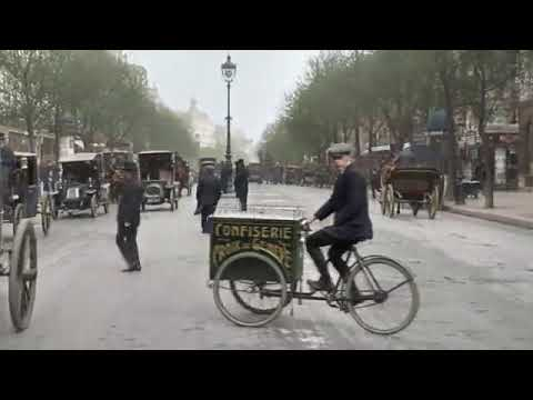 Rare footage of Paris 1900