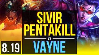 SIVIR & Blitzcrank vs VAYNE & Pyke (ADC) | Pentakill, KDA 15/2/9, Legendary | EUW Diamond | v8.19