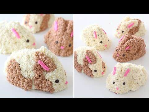Video Easter Bunny Cakes Recipe