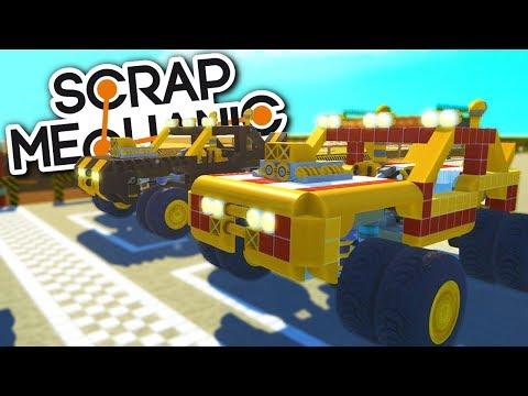 TOTÁLNĚ ŠÍLENÉ ZÁVODY! :D - Scrap Mechanic