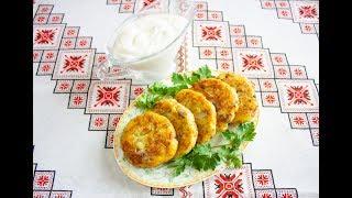 Картопляні оладки з грибами❤️Картофельные оладьи с грибами👍