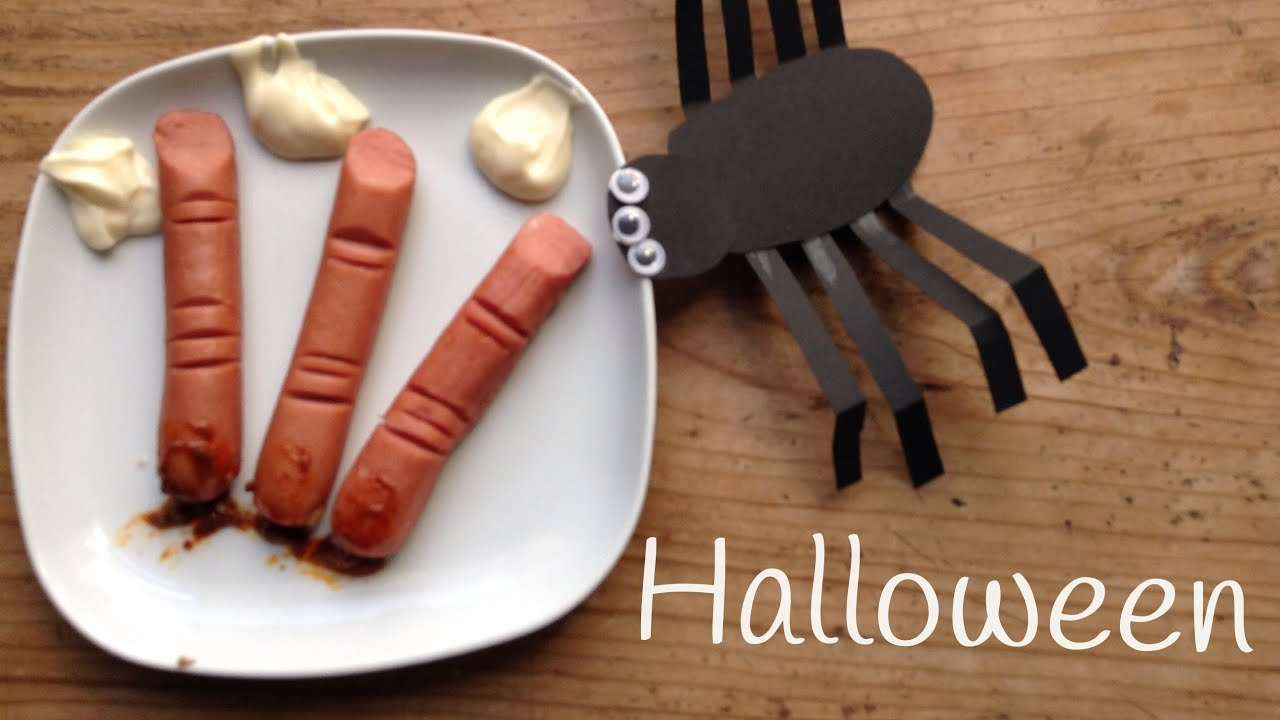 Dedos de salchichas, recetas para Halloween