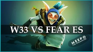 w33 Meepo vs EG.Fear Ember Spirit Ditya Ra SF & Earthshaker | Dota 2 Gameplay