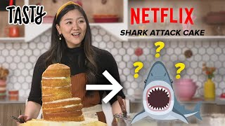 I Tried To Recreate The Famous Shark Cake From Nailed It! • Tasty