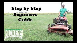How to run a Walk Behind Mower, Step by Step