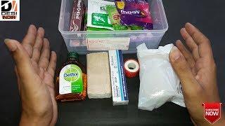 First Aid Box || आपके घर मैं ये सारी चीजे होनी बहुत जरूरी है || DESI INDIA