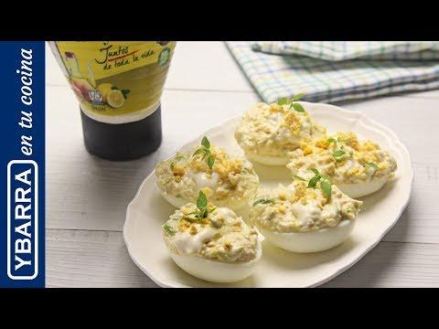 Huevos rellenos de ensalada de pollo