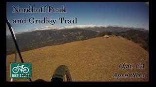 Downhill off of Nordhoff Peak .