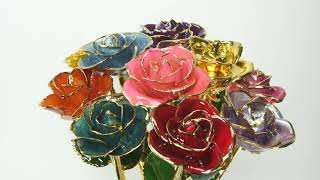 What is a 24kt Gold Dipped Rose?