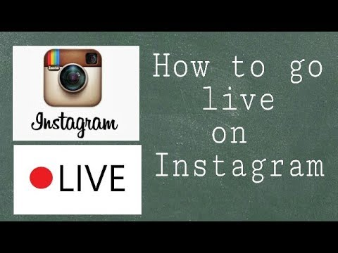 How to go live on Instagram live on Instagram