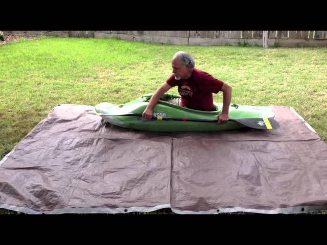 Dry land kayak roll practice technique.