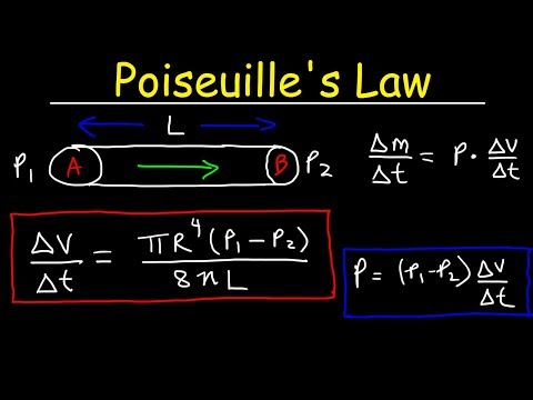 poiseuilles law pressure difference volume flow rate fluid power  poiseuilles law pressure difference volume flow rate fluid power physics problems