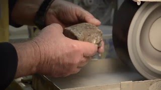 Polishing Petoskey stones