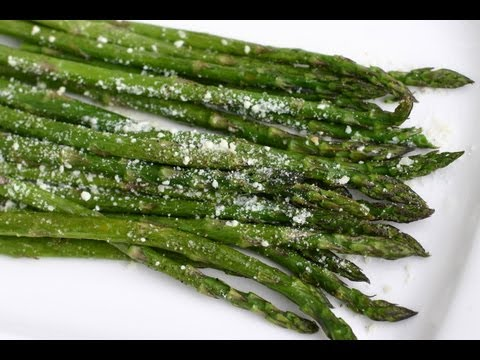 Video Easy Oven Roasted Asparagus Recipe - Healthy Side Dish by Rockin Robin