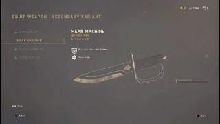 I got the new Mean Machine knife new winter update Call Of Duty WW2.