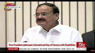 Persons with disabilities must be empowered to lead a dignified life: Vice President