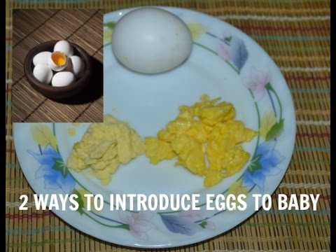 Video How to Give Eggs to Baby - Homemade baby food Recipes ( 9 months+)