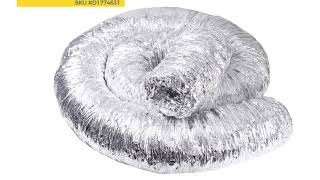 "Glass Wool Insulated Duct – 8"" Diameter – 10 M Length"