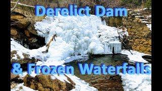 Frozen Waterfalls In North Cheyenne Cañon - Abandoned  Lock & Dam System