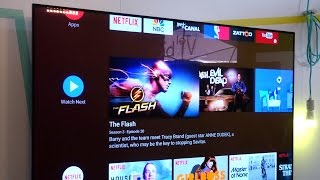 New Android TV home screen
