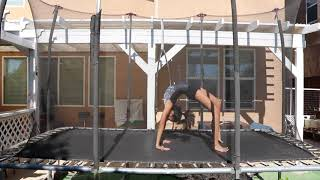 How To Do A Back Handspring - Trampoline Tutorial - So Typical Jane